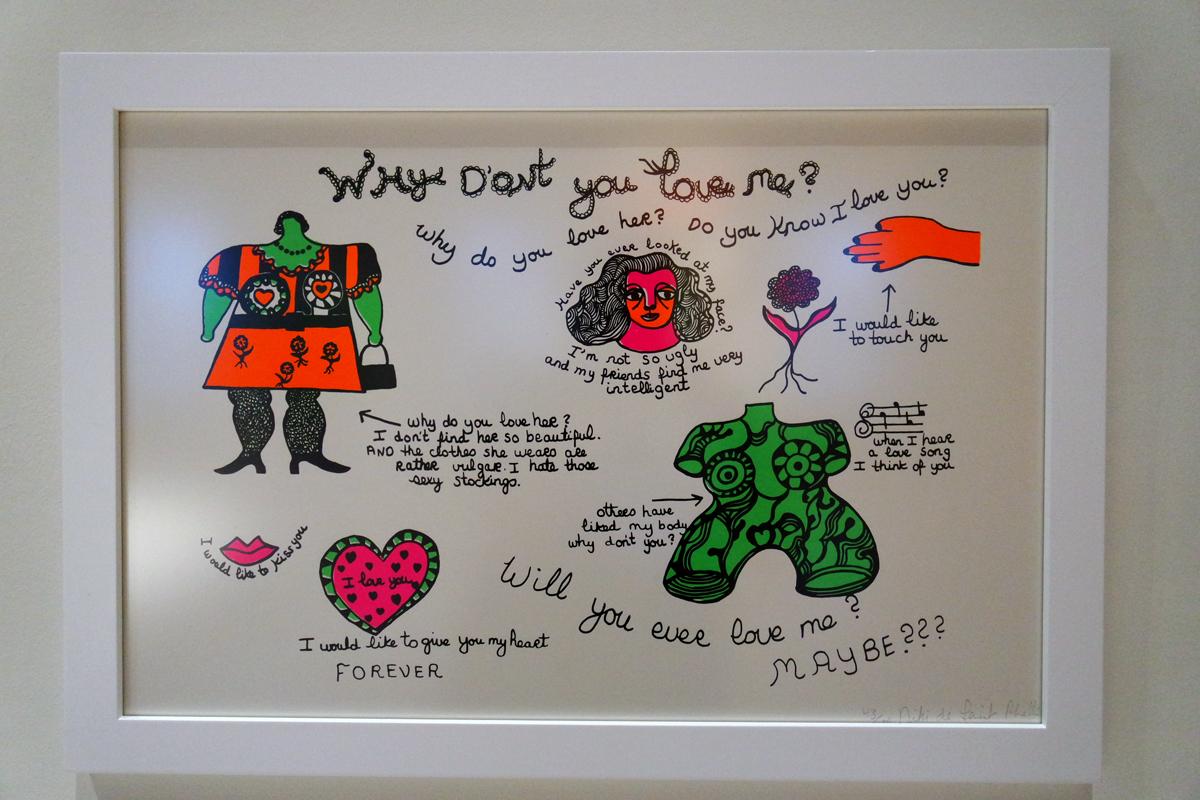Why-dont-you-love-me-1968-sérigraphie-de-Niki-de-Saint-Phalle-Santee-Niki-Charitable-Art-Foundation-exposition-rétrospective-Grand-Palais-Paris