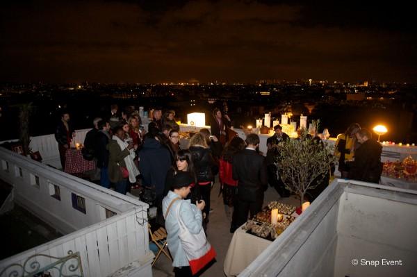Snap Event organisation de soirée site web paris new trendy service toit rofftop vue 360