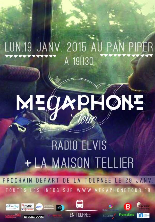 MEGAPHONE TOUR pan piper paris 19 janvier 2015 Radio Elvis La maison tellier concert musique live concours