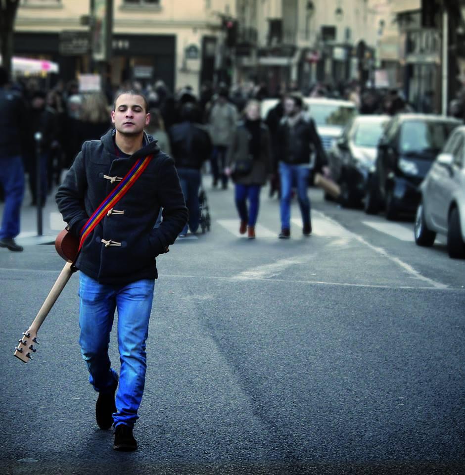 Nour Harkati Dive couverture album chanteur musicien tunisien singer musician rues de Paris Tunisie