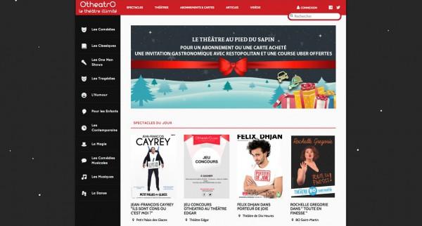 Otheatro theatre en illimité spectacle live liberté one man show danse humour comédie paris site web