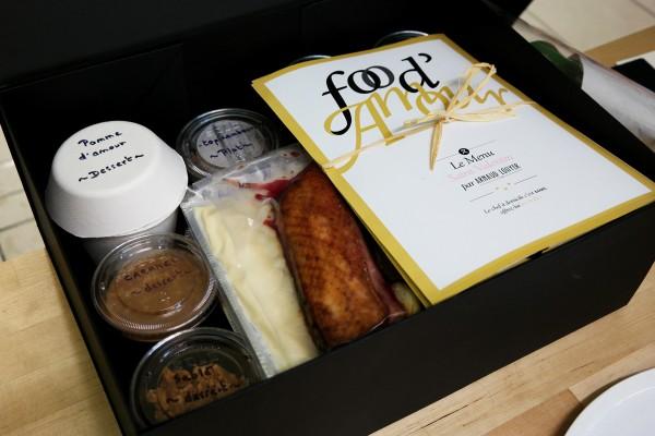 Box food'amour Saint valentin Arnaud lohyer chefs à domicile repas d'exception menu partage food intérieur By United States of Paris