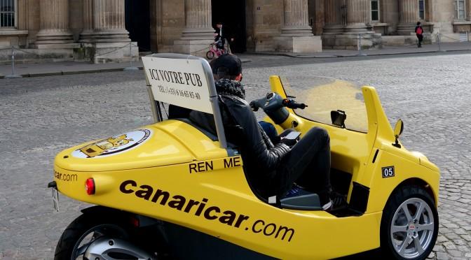 CANARICAR : visite insolite de Paris en bolide jaune & en duo
