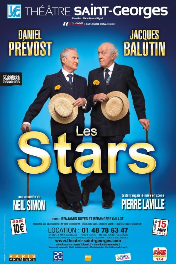 Les stars Théâtre Saint Georges Jacques Balutin Daniel Prevost affiche Neil Simon The Sunshine Boys critique avis humour