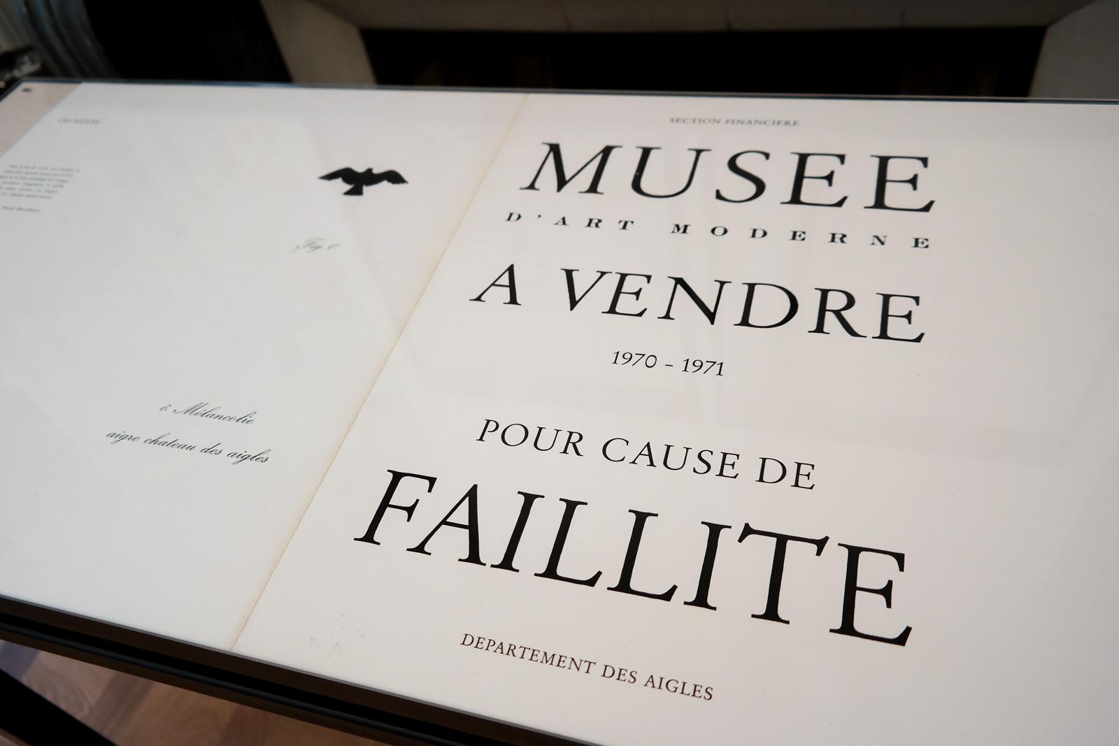 Musee-d-art-moderne-1971-1970-pour-cause-de-faillite-départements-des-aigles-Estate-Marcel-Broodthaers-exposition-Monnaie-de-Paris-MACBA-collection