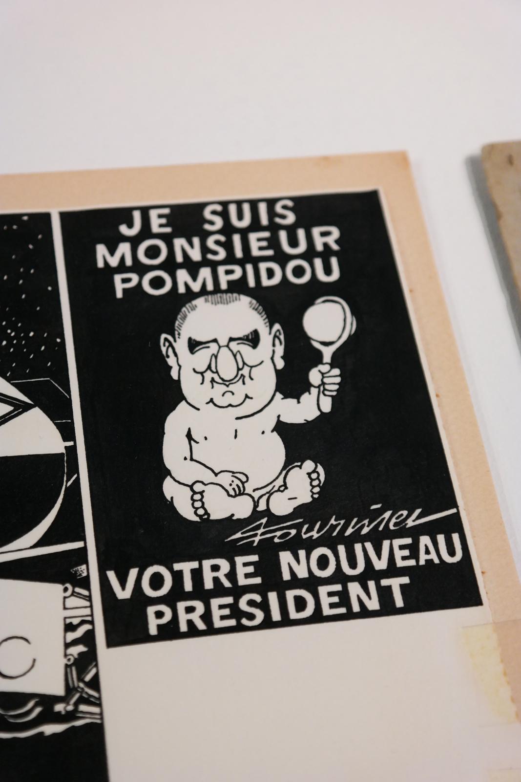 Dessin original de Pierre Fournier paru dans Hara Kiri
