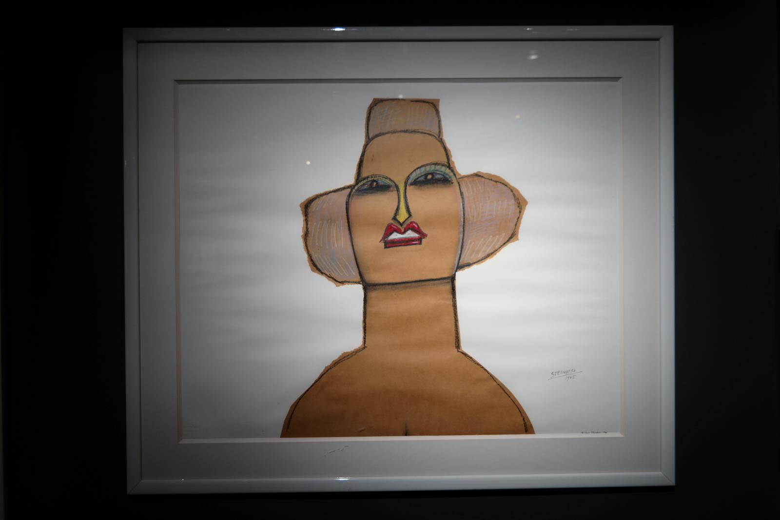 portrait, 1966, par Saul Steinberg