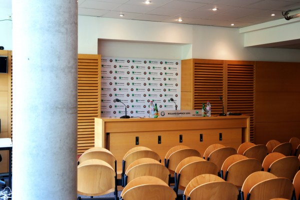 Roland Garros 2015 tournoi tennis Priceless Mastercard grand chelem France Porte Auteuil sport salle de presse itw journaliste média photo by United States of Paris