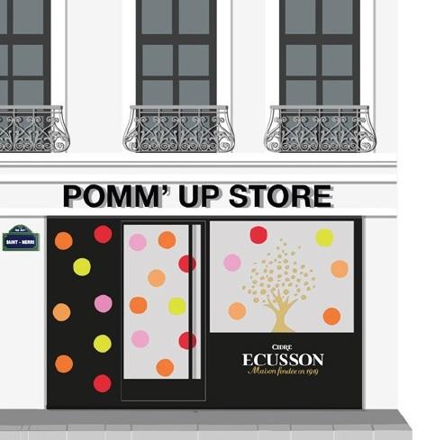 pomm up store Ecusson évènement atelier éphémère rue saint merri découverte concours united states of paris