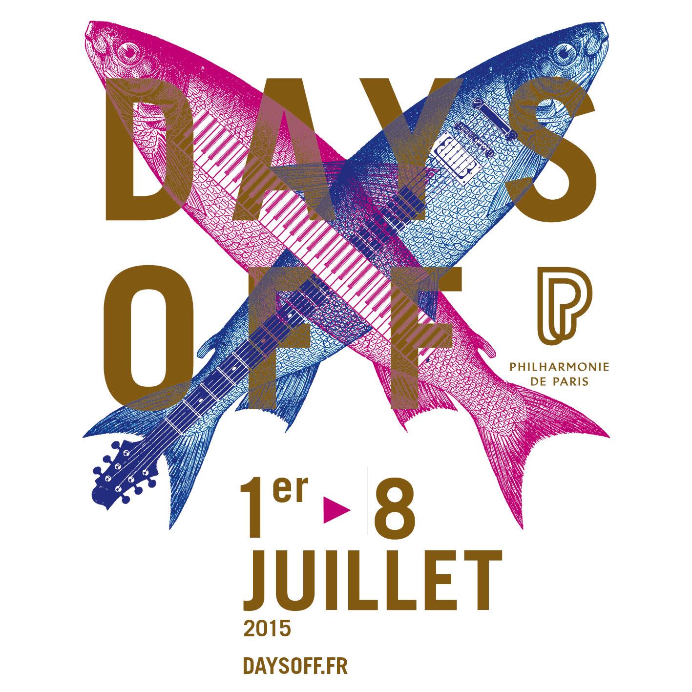 Festival Days Off 2015 visuel affiche poissons instruments Hartland Villa La Philharmonie de Paris Cité de la Musique