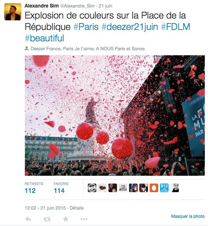 United States of Paris deezer fête de la musique 2015 Place de la République