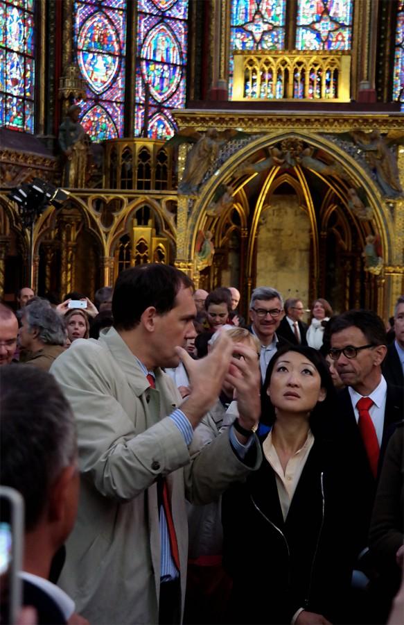 Vitraux Sainte Chapelle Paris Ministre culture Fleur Pellerin art rénovation visite Photo by Blog United States of Paris