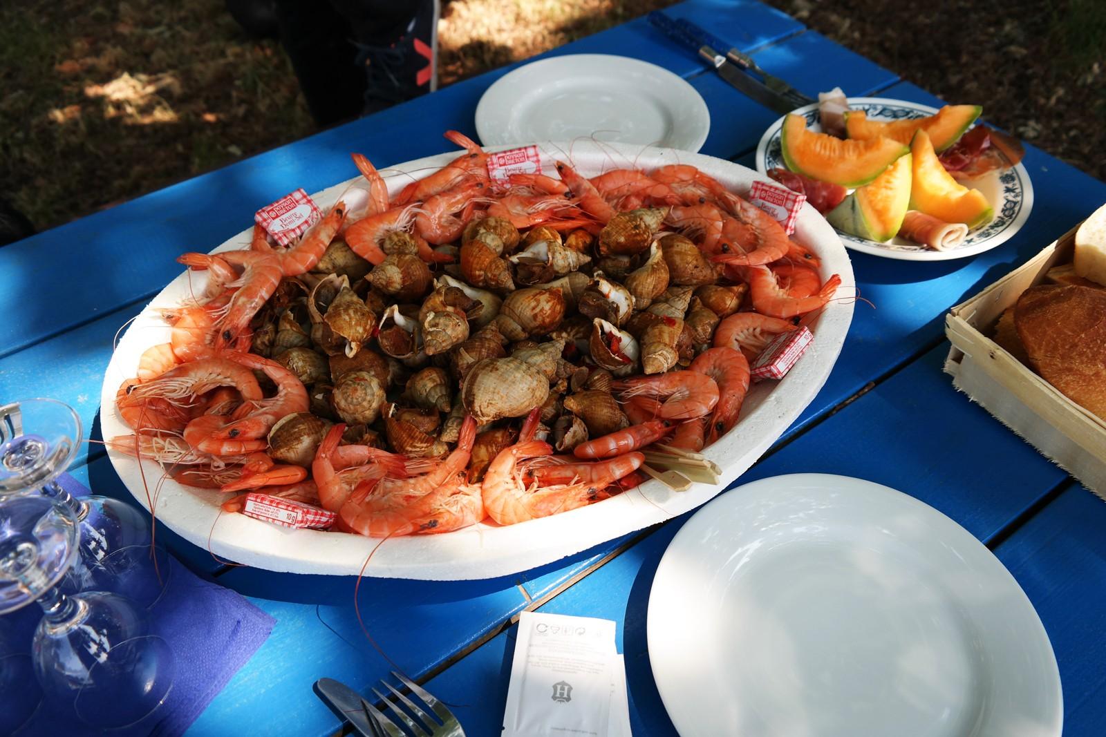 Assiette-fruits-de-mer-cabane-ostréicole-Antoine-Duvignac-déjeuner-huitres-bulots-crevettes-Port-de-Biganos-Bassin-d-Arcachon-gironde-vraies-vacances-photo-by-united-states-of-paris-blog