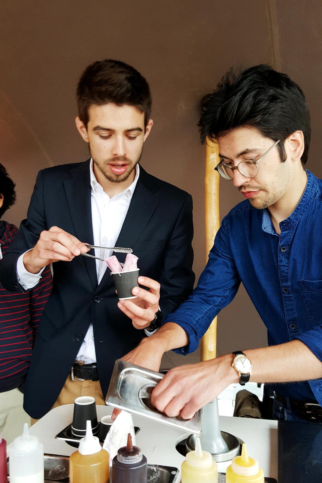 Quentin et Thomas, concepteurs d'IceRoll