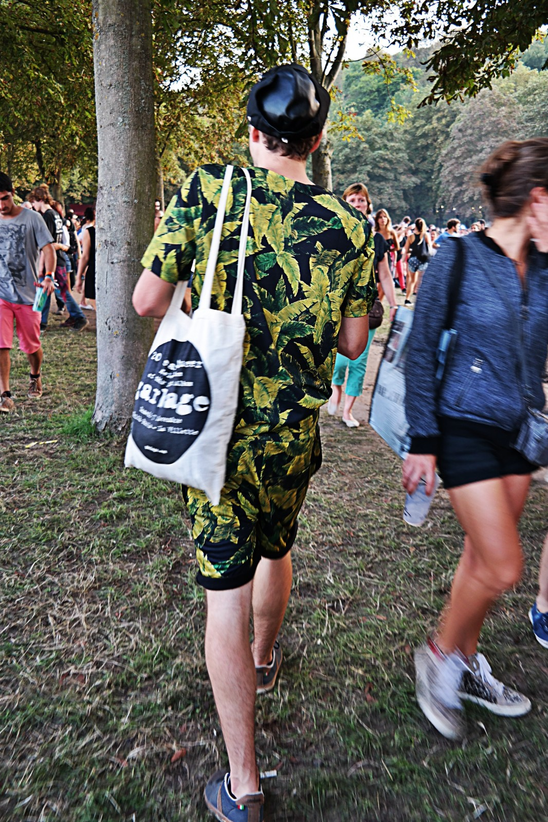 Festivalier habillé jungle festival rock en seine 2015 musique menswear fashion photo by united states of paris blog