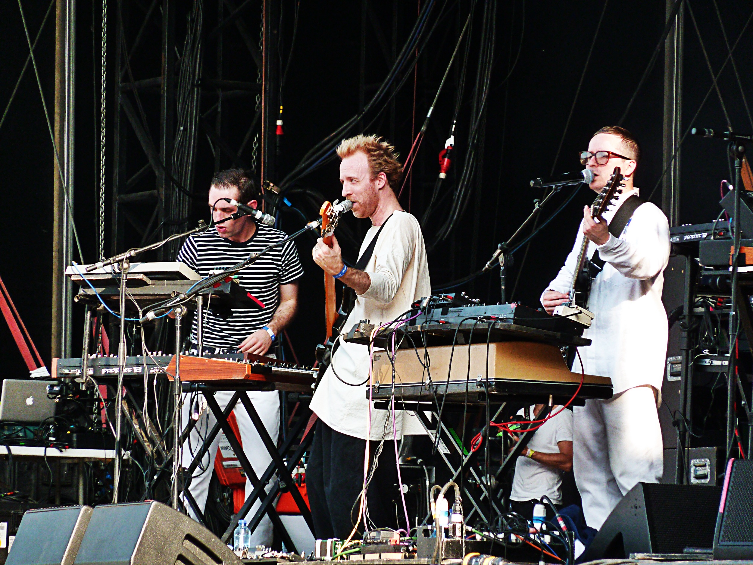 Hot Chip music band live Rock en Seine 2015 festival france concert Owen Clarcke Felix Martin Alexis Taylor stage photo by united states of paris blog