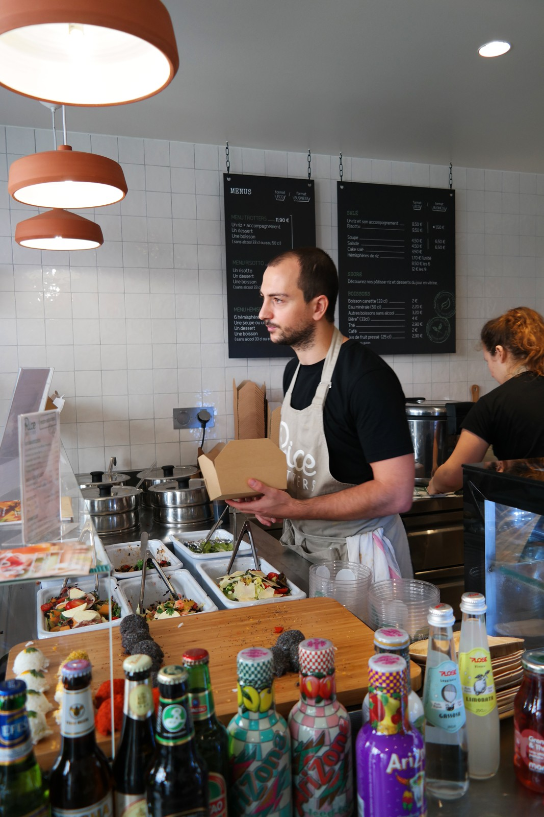 Rice Trotters comptoir accueil et plats du jour resto concept fast food recettes à base de riz photo by united states of paris blog