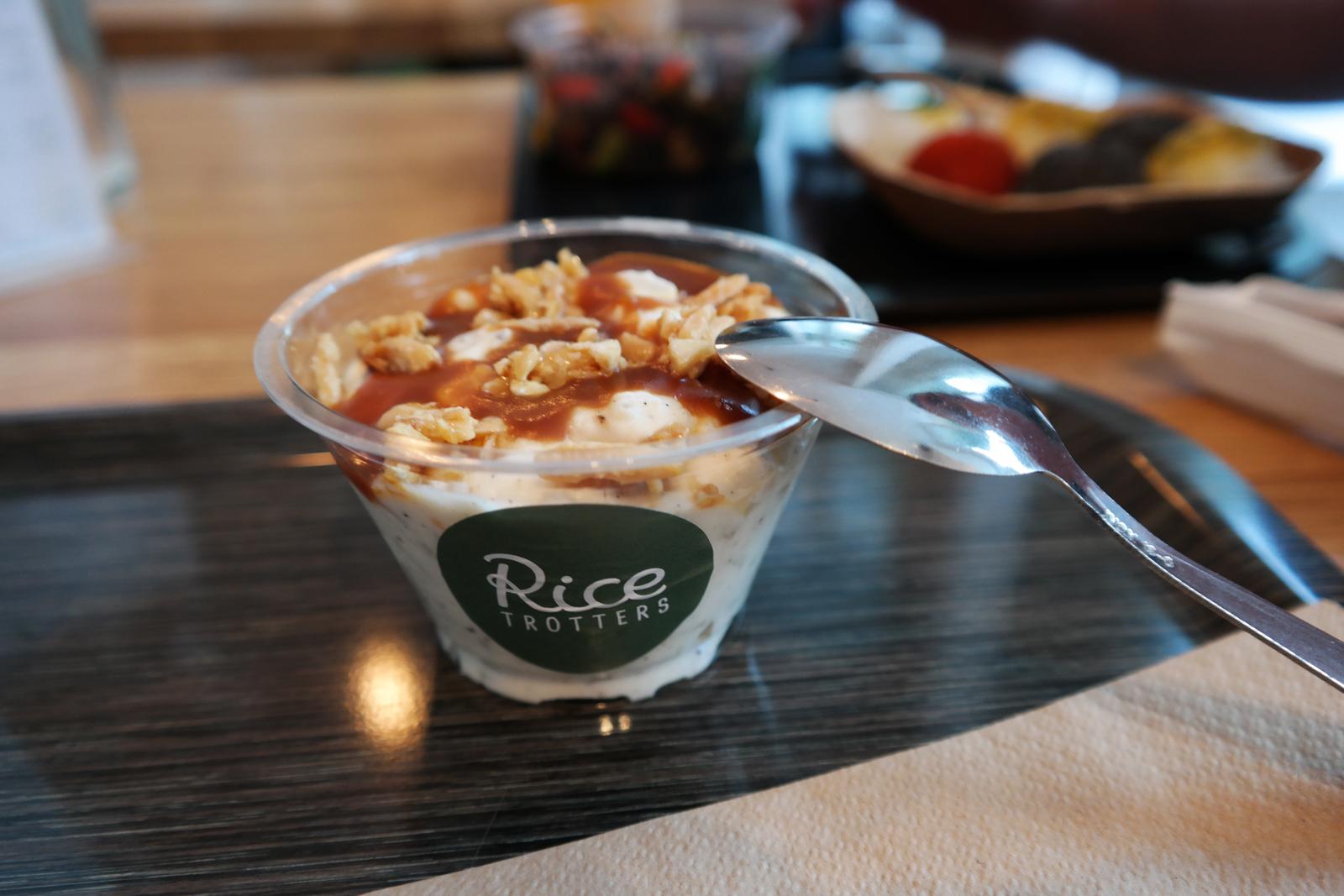 Riz au lait caramel au beurre salé dessert du Rice Trotters resto concept recettes à base de riz photo by united states of paris blog