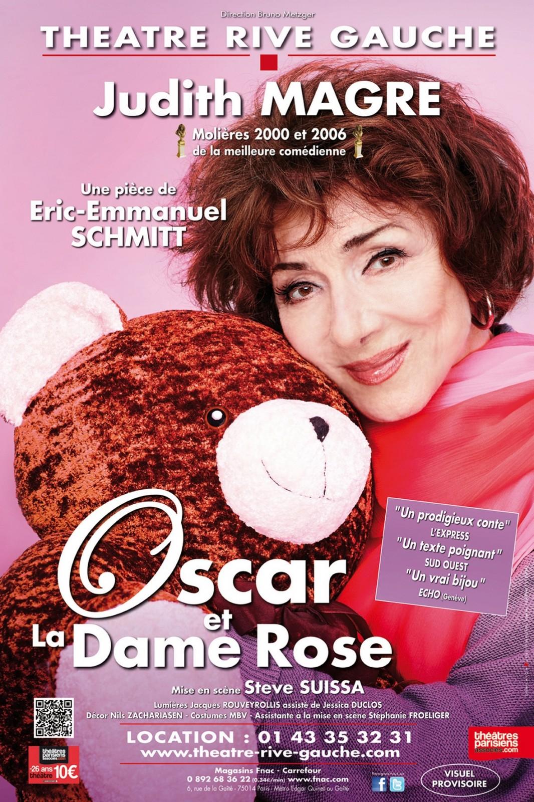 Affiche-Oscar-et-la-Dame-Rose-pièce-de-Eric-Emmanuel-Schmitt-avec-Judith-Magre-mise-en-scène-Steve-Suissa-au-Théâtre-Rive-Gauche-Paris