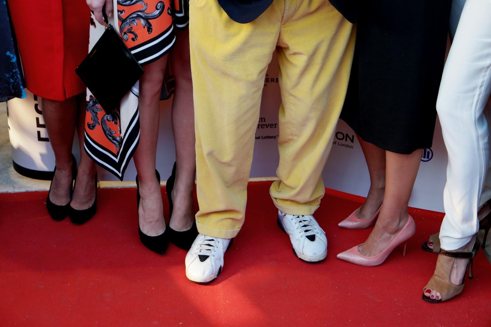 Chaussures de Jean Rochefort président du jury du Festival du film Britannique de Dinard et ses jurées nathalie dormer Mélanie Doutey alexandra lamy photo usofparis