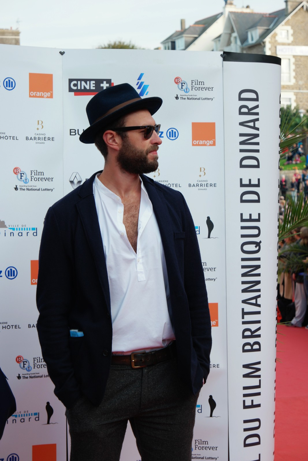 Duane Hopkins movie director movie festival du film Britannique de Dinard 2015 British tapis rouge red carpet photo by usofparis