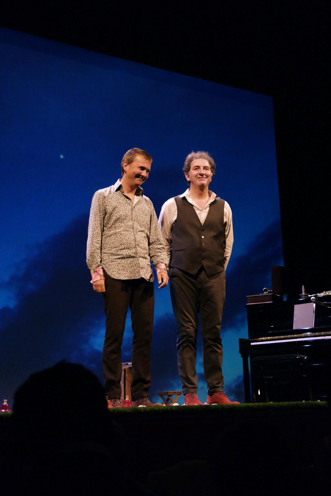 François Morel et Antoine Sahler pièce Hyacinthe et Rose au Théâtre de l Atelier photo by united states of paris blog