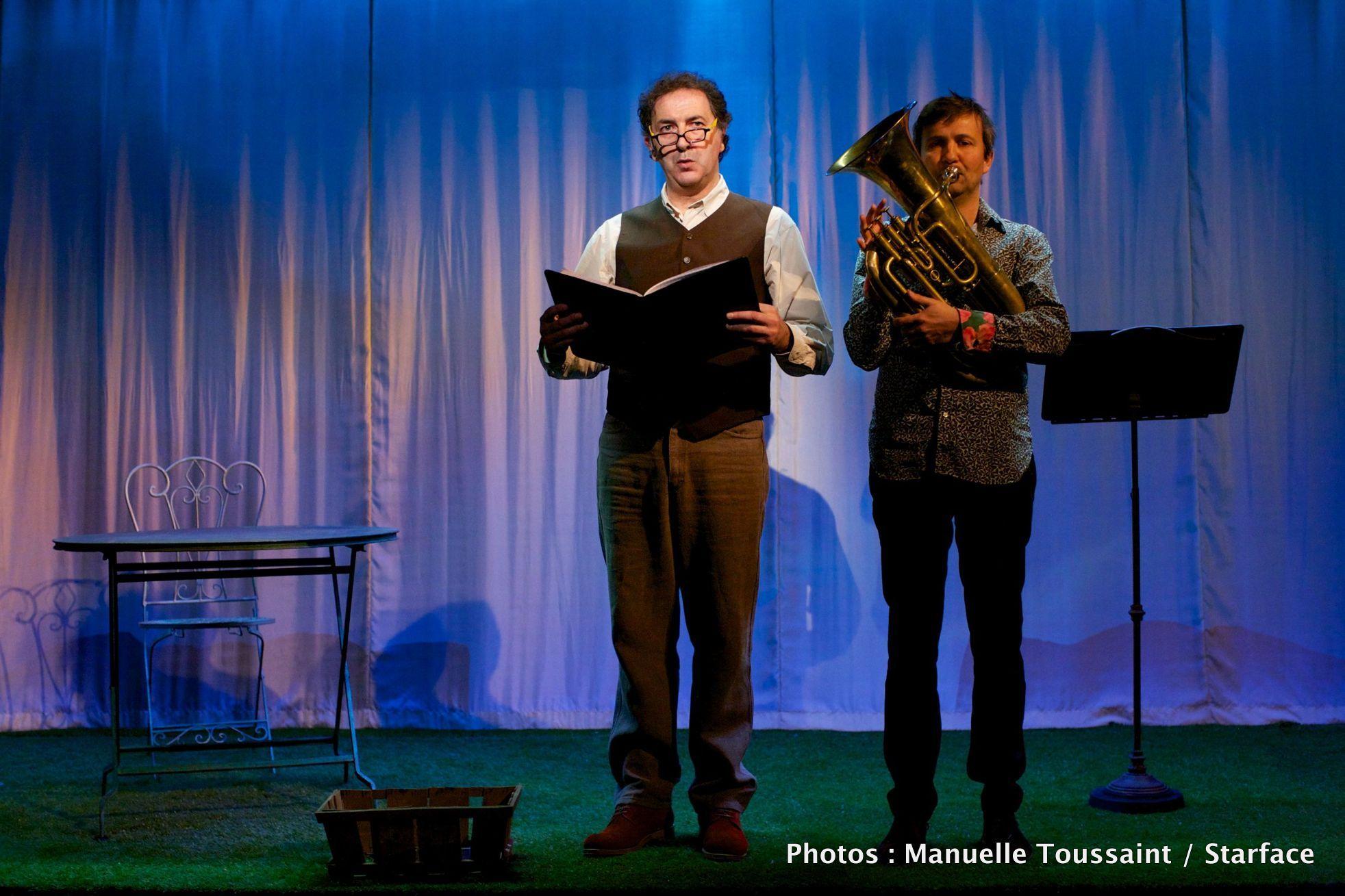 HYANCINTHE ET ROSE pièce de et avec François Morel - Antoine Sahler Théâtre de l Atelier Paris PHOTO Manuelle Toussaint Starface