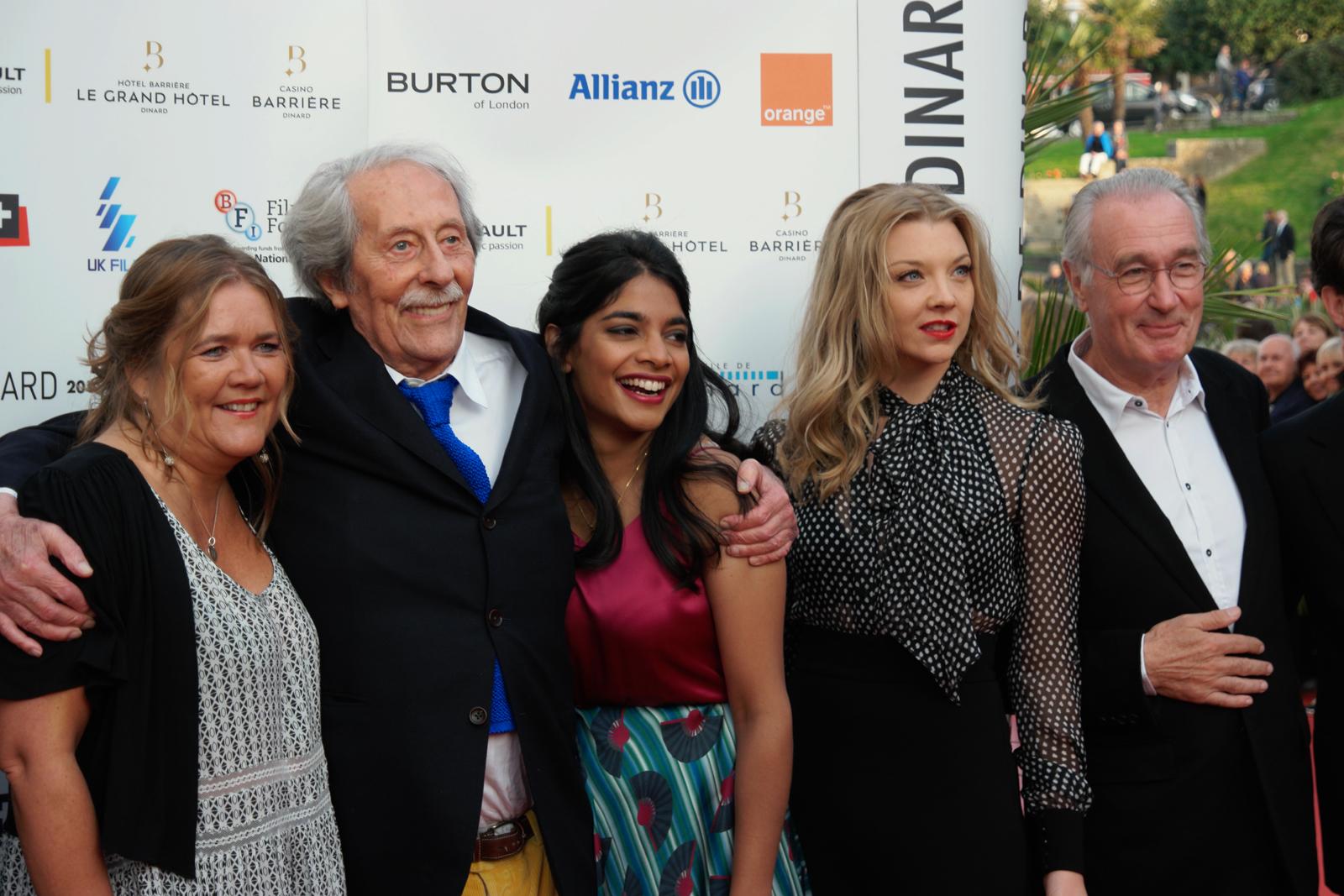 Jean Rochefort et son jury Amara Karan Natalie Dormer Bernard Lecoq festival du film de dinard 2015 tapis rouge photo by usofparis