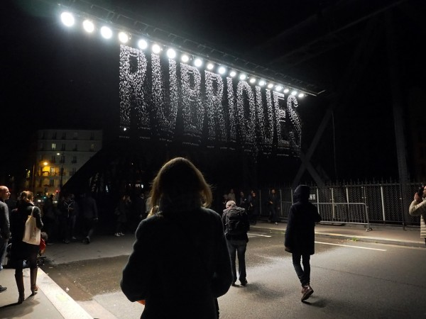 Nuit Blanche 2015 Paris programme Julius Popp Bit fall art expo exposition parcours photo by united States of Paris