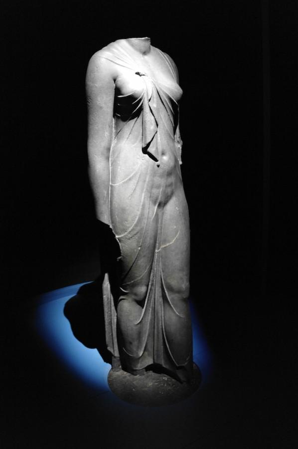 OSIRIS Mystères engloutis d'Égypte Institut du monde arabe expo art hsitoire statue de reine photo by Joel Clergiot Blog United States of Paris