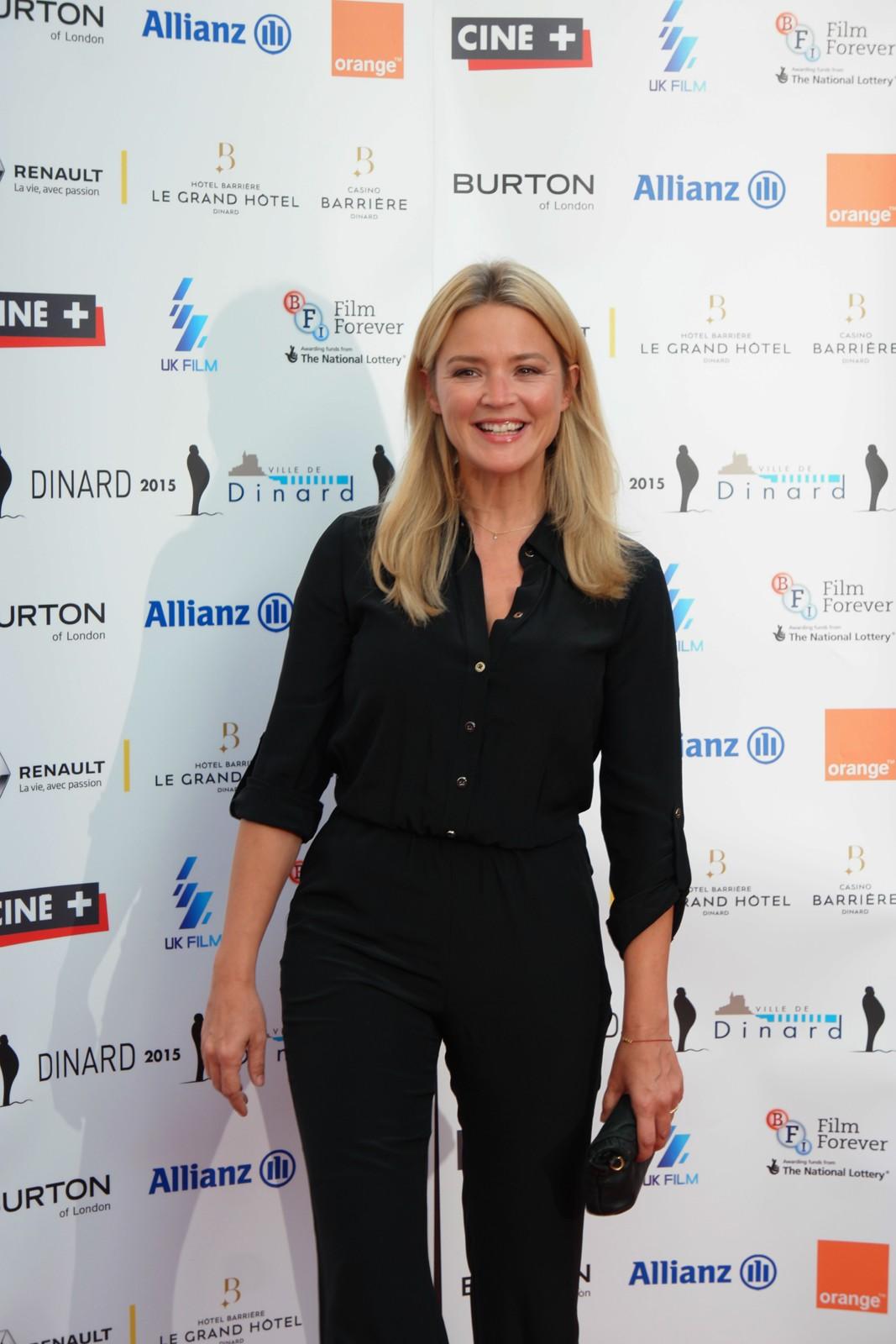 Virginie Efira jurée très attendue du festival du film Britannique de Dinard 2015 tapis rouge soirée de clôture photo by usofparis