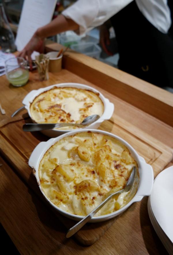Botanique Restaurant cuisine feu de bois Fameux gratin de pommes de terre