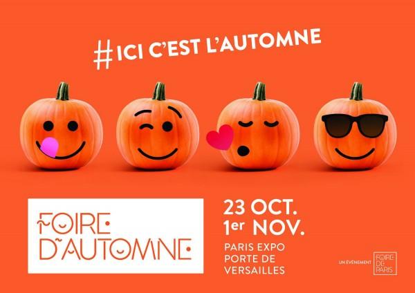 Foire automne 2015 Paris découverte évènement Grand prix de l'innovation smart & connecté affiche une