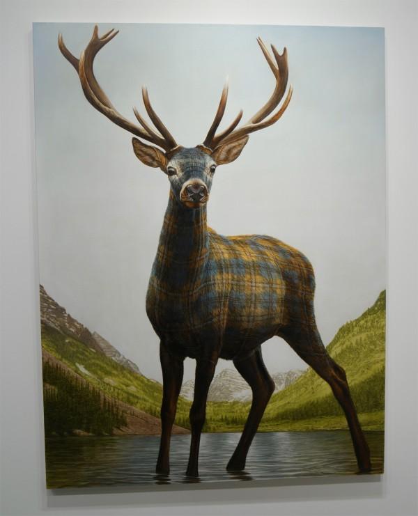 Moroon Belts Deer 2015 by Sean Landers oil on linen Capitain Petzel Gallery Berlin FIAC 2015 Grand Palais Paris international contemporary art fair