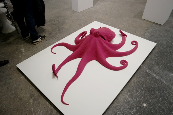 Octopus 2014 by Carsten Höller purple coloured polyurethane brown glass eyes Galerie Air de Paris Fiac 2015 international contemporary art fair