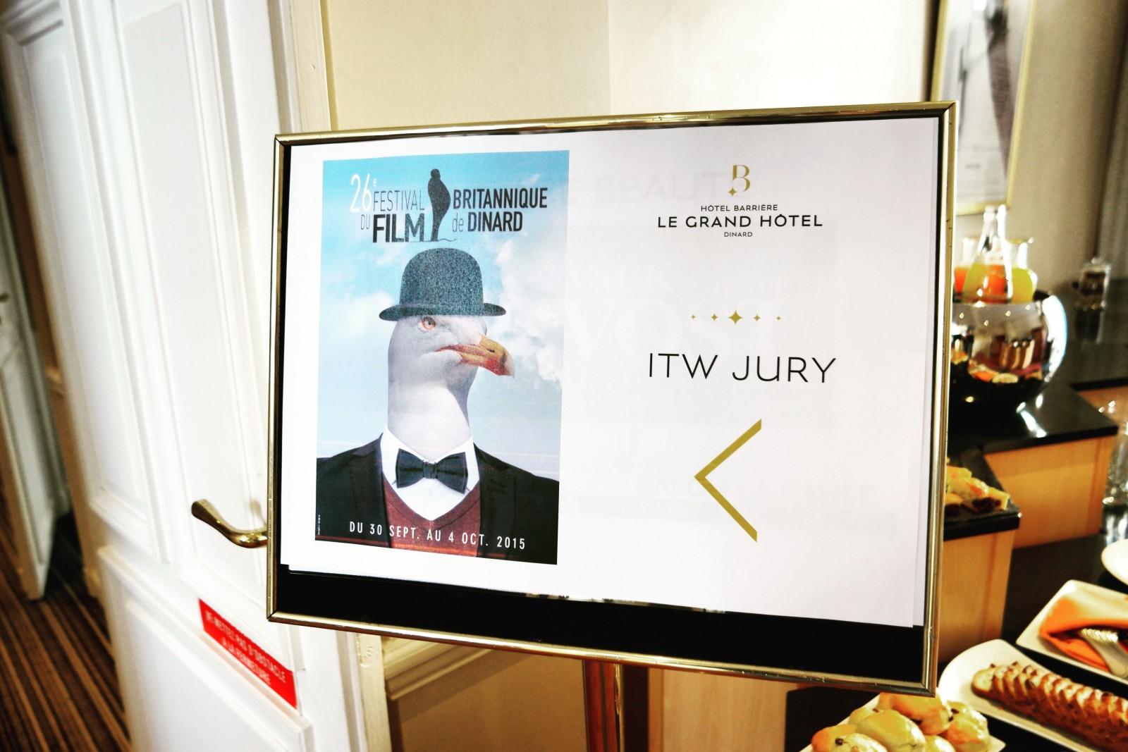 Panneau interview des membres du jury festival du film britannique de dinard Grand Hotel Barrière photo usofparis blog
