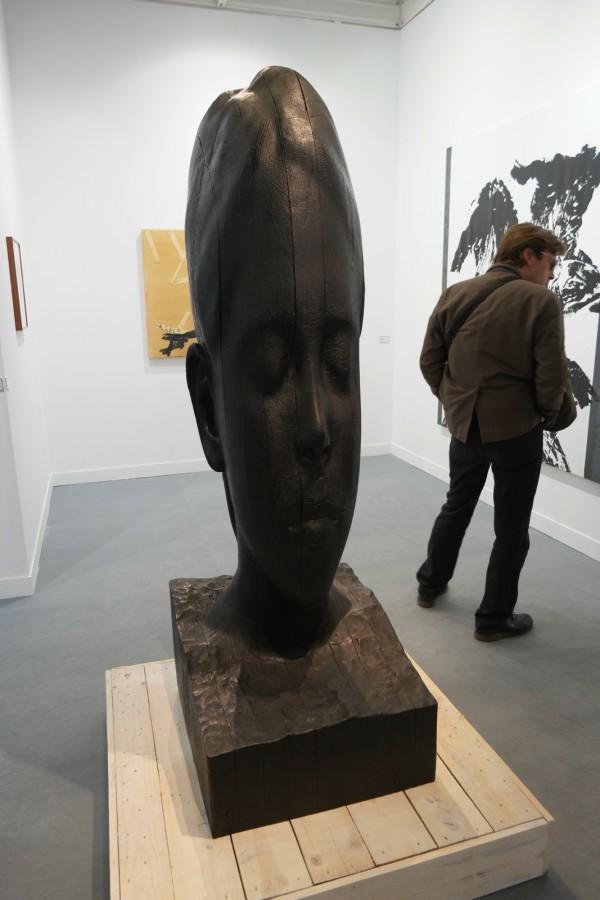 Paula 2015 by Jaume Plensa bronze édition de 5 Galerie Lelong Paris FIAC 2015 Grand Palais Paris international contemporary art fair