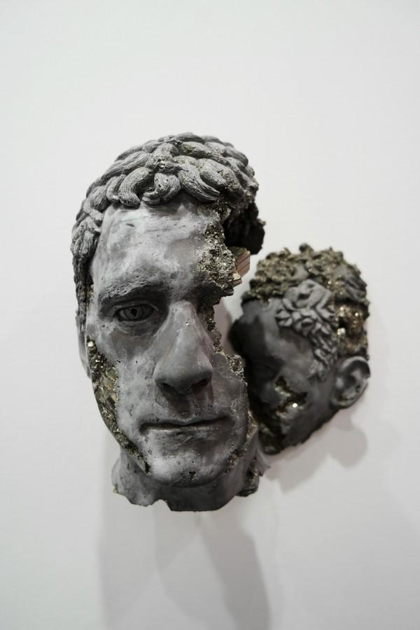 Pyrite Cracked Face 2015 by Daniel Arsham Pyrite hydrostone unique Galerie Emmanuel Perrotin FIAC 2015 Grand Palais PARIS international contemporary art fair