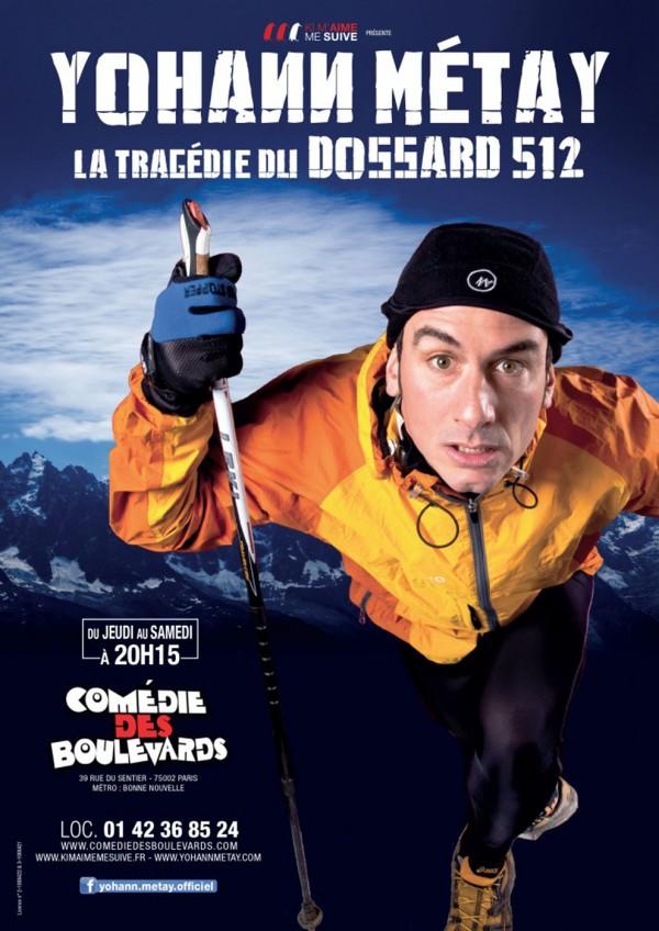 Tragédie du dossard 512 Yohann Métay Comédie des boulevards spectacle humour avis critique paris one man show