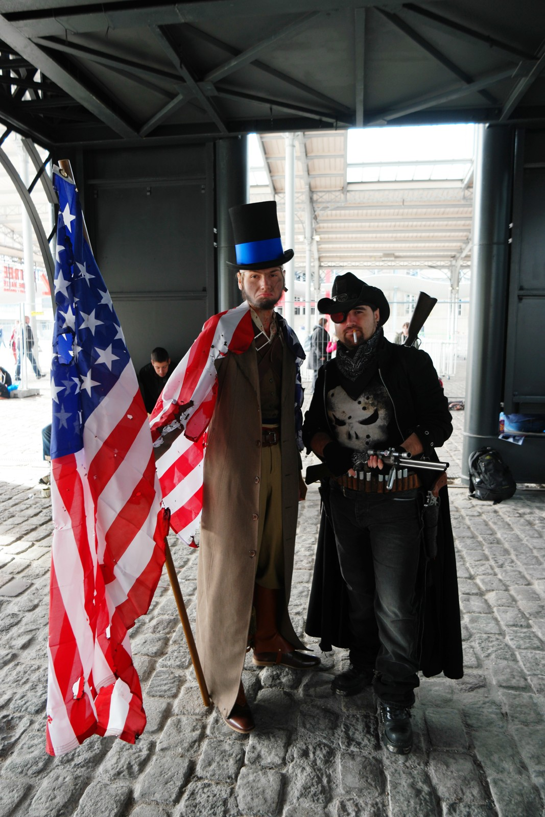 Vintage american men Comic Con paris cosplay festival 2015 Grande Halle de la Villette photo united states of paris blog