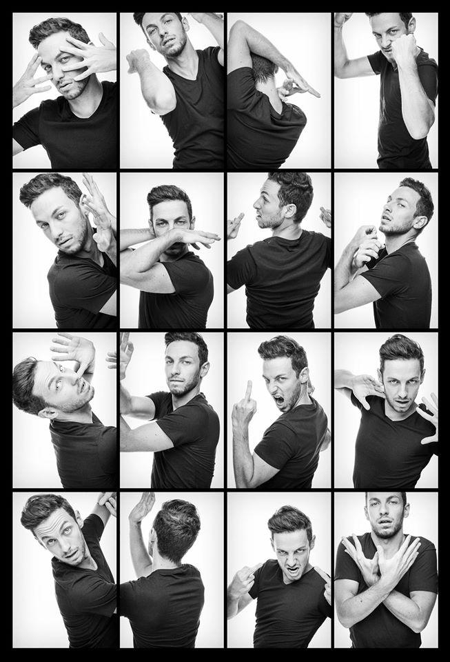 Alex Ramires humoriste one man show théâtre les blancs manteaux paris portrait photomaton par Robin Gervais photographe