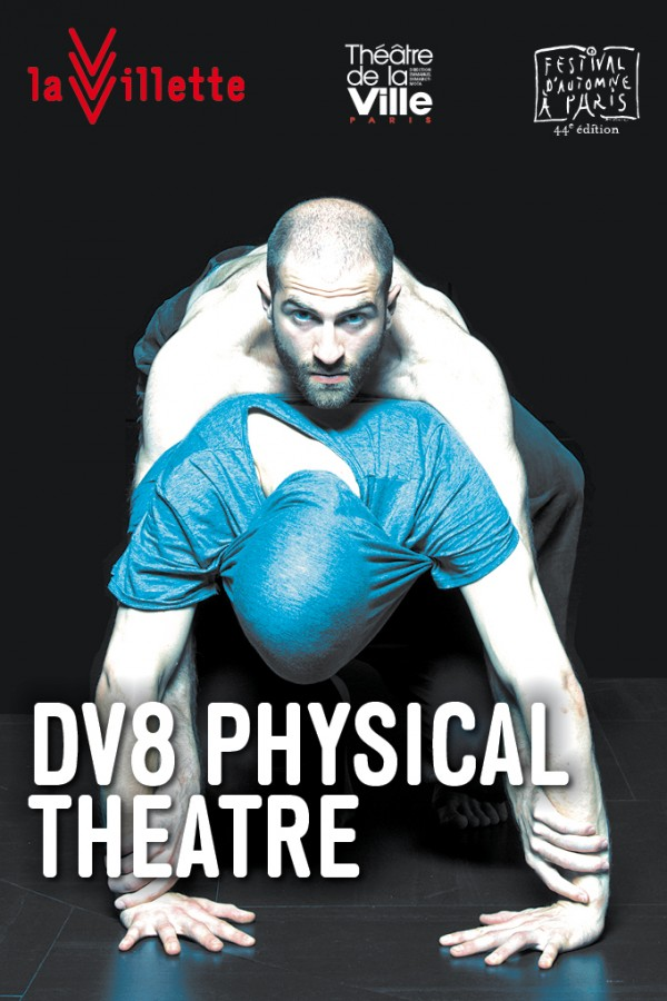 DV8 Physical theatre John Grande Halle de la villette Lloyd Newson spectacle théâtre danse concours Paris affiche © Photo by Kris Rozental Visuel by Sophie Lavoiejpg