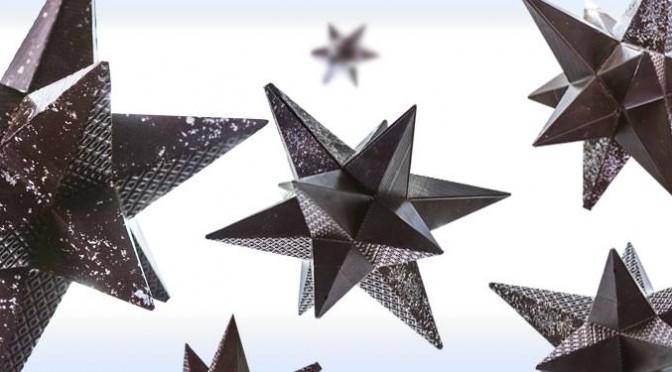 Chocolaterie Michel Cluizel : étoiles en chocolat et tablettes de Noël !