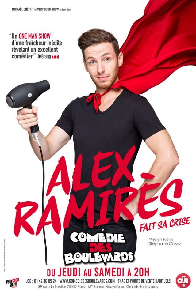 Alex Ramires fait sa crise à la comédie des boulevards paris spectacle humour one man show mise en scène Stéphane Casez