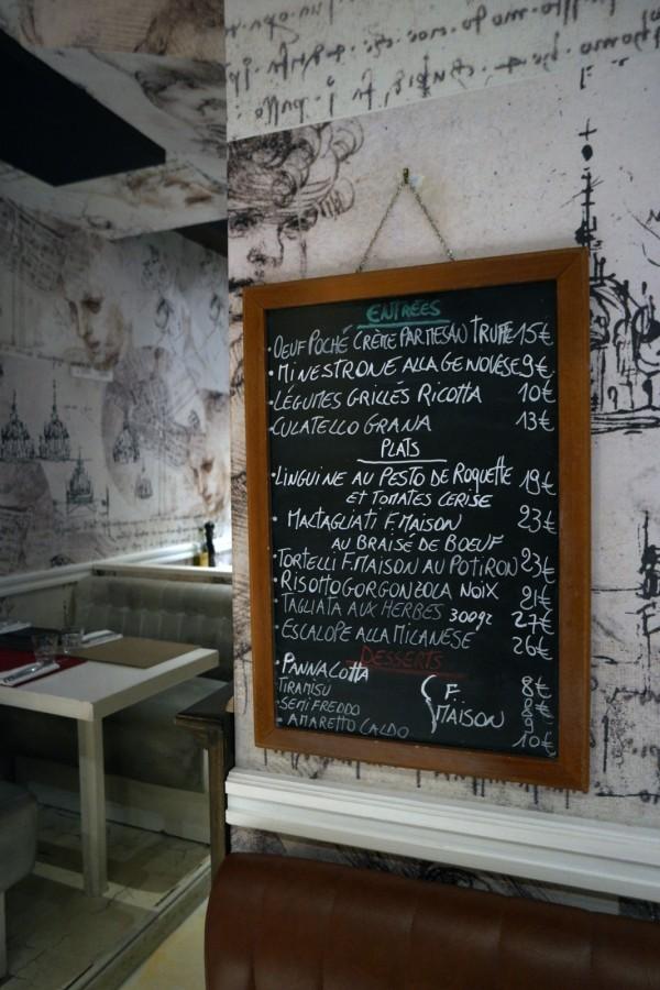 Oliva restaurant italien trattoria avis critique menu repas diner déjeuné paris 8ème Photo by blog United states of paris