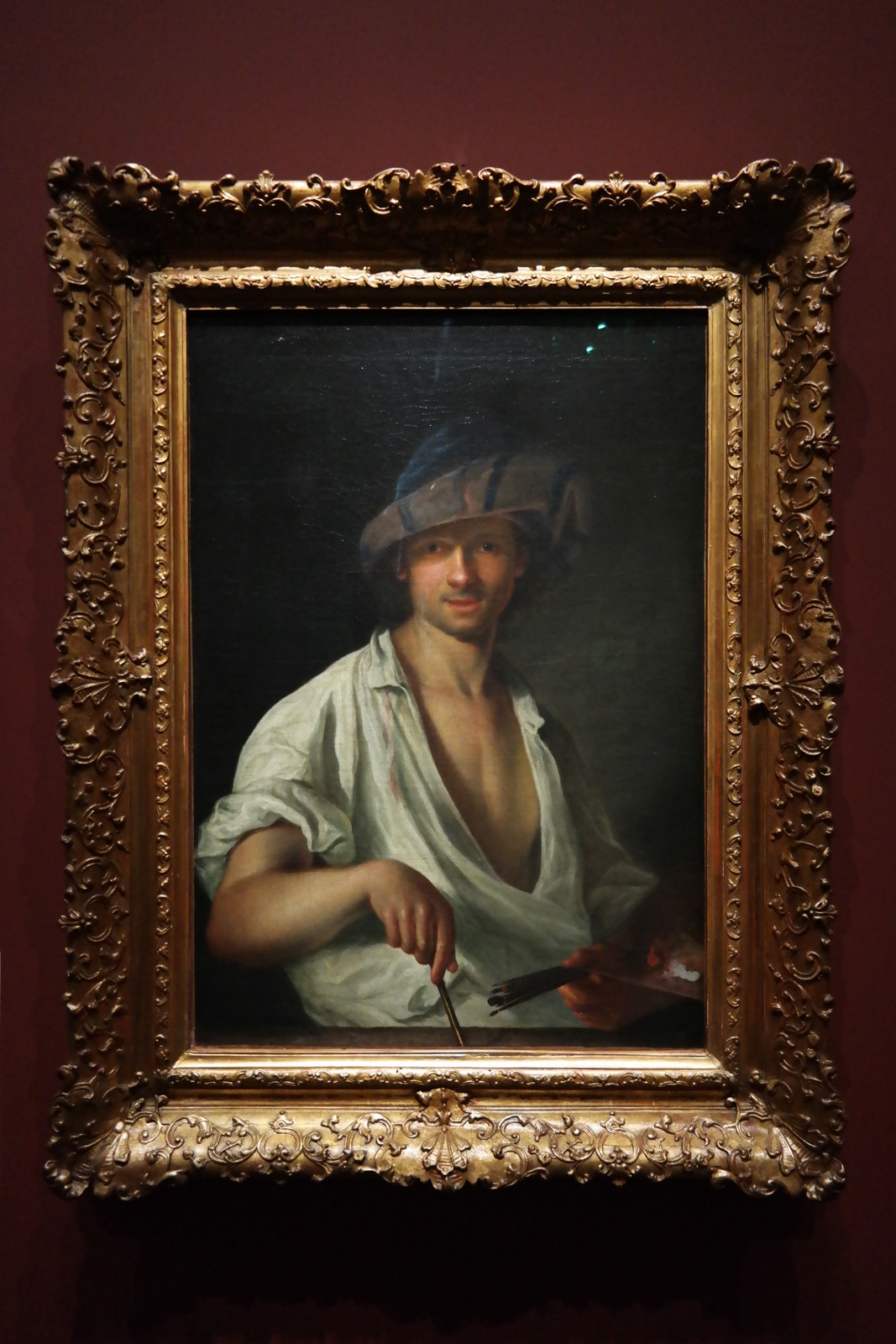 Autoportrait, Adam Manyoki, vers 1711
