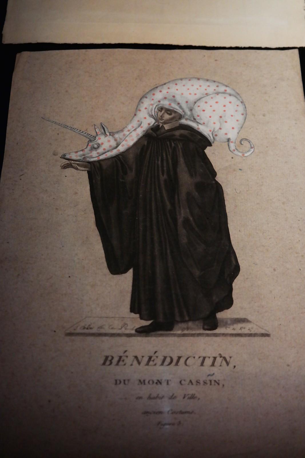 Bénédiction du Mont Cassin de Guillaume Dégé exposition L esprit singulier collection de l abbaye d auberive halle saint pierre paris