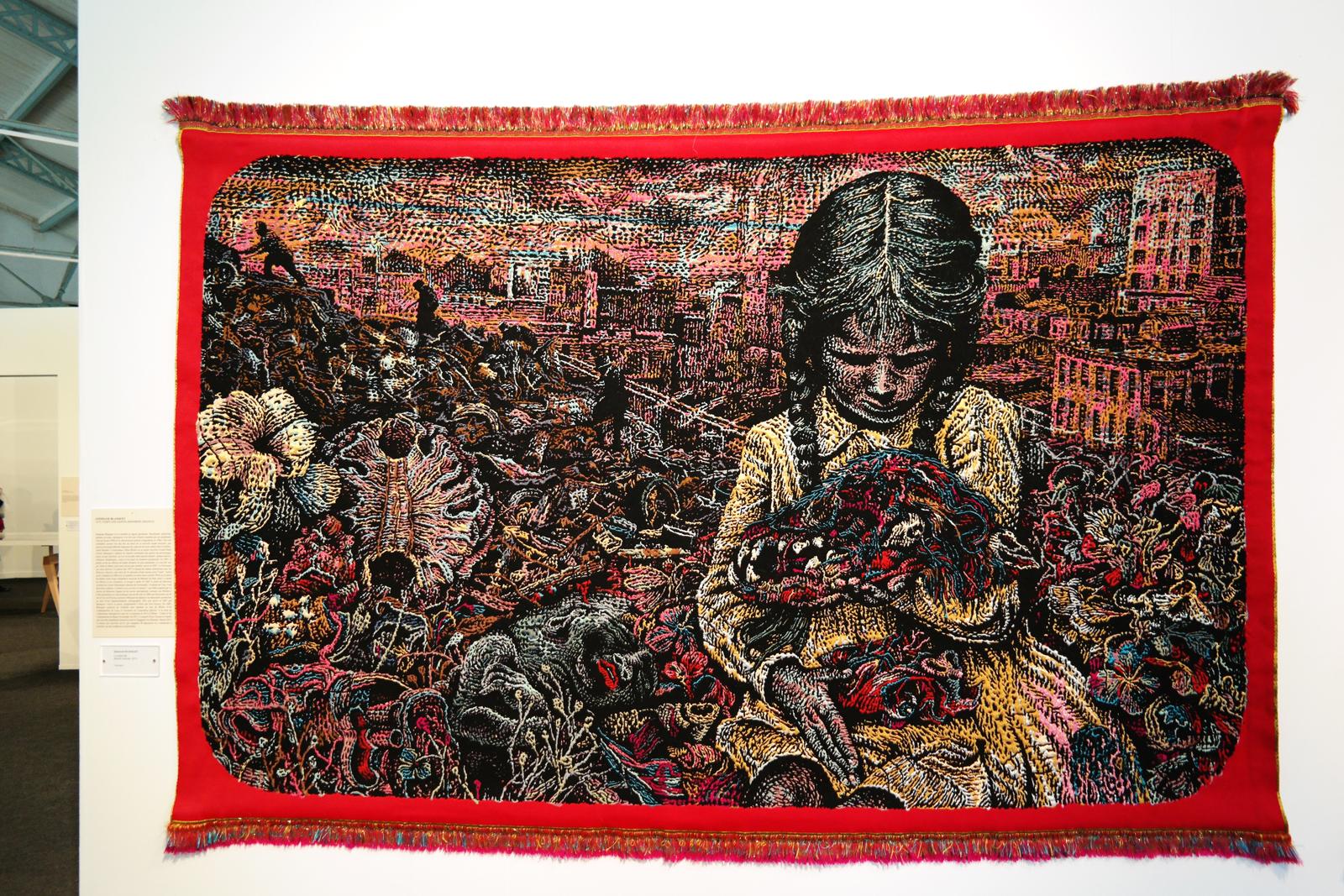 La petite fille, tapisserie, Stéphane Blanquet