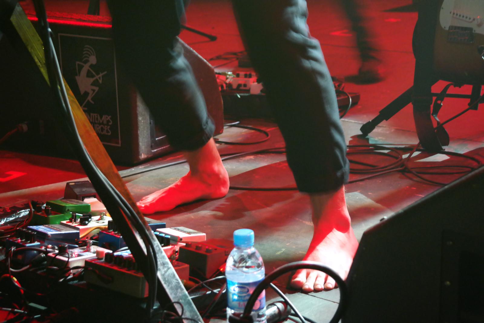 Samba de la muerte concert live au Printemps de Bourges 2016 Adrian Leprêtre pied nus album Colors photo de scène usofparis blog