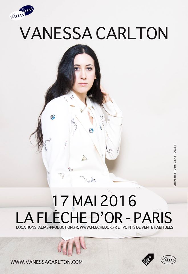 Affiche Vanessa Carlton en concert La Flèche d Or Paris mardi 17 mai 2016 nouvel album Liberman alias production